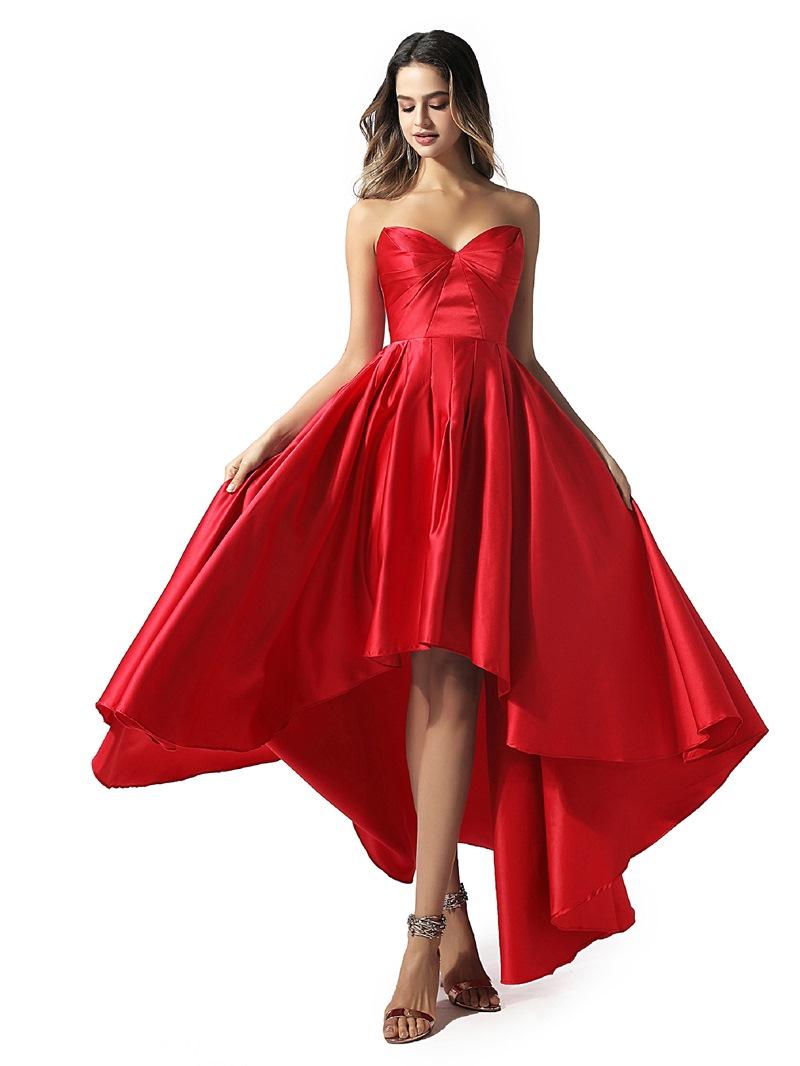 Ericdress Sleeveless A-Line Pleats Sweetheart Prom Dress