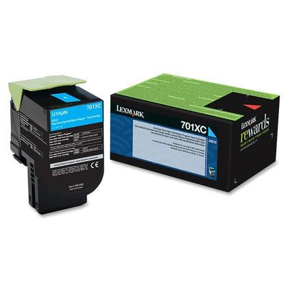 Lexmark 701XC 70C1XC0 cartouche de toner du programme retour originale cyan extra haute capacite