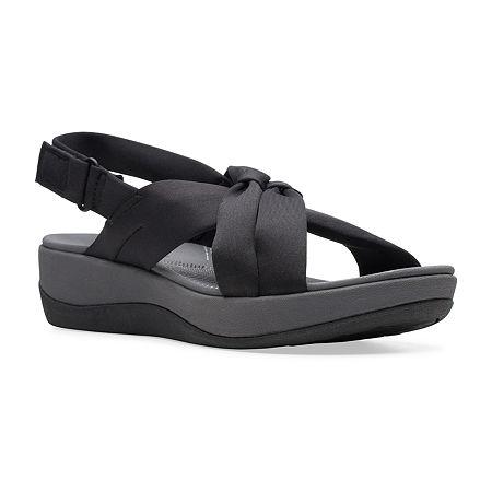 Clarks Womens Arla Belle Strap Sandals, 8 Medium, Black