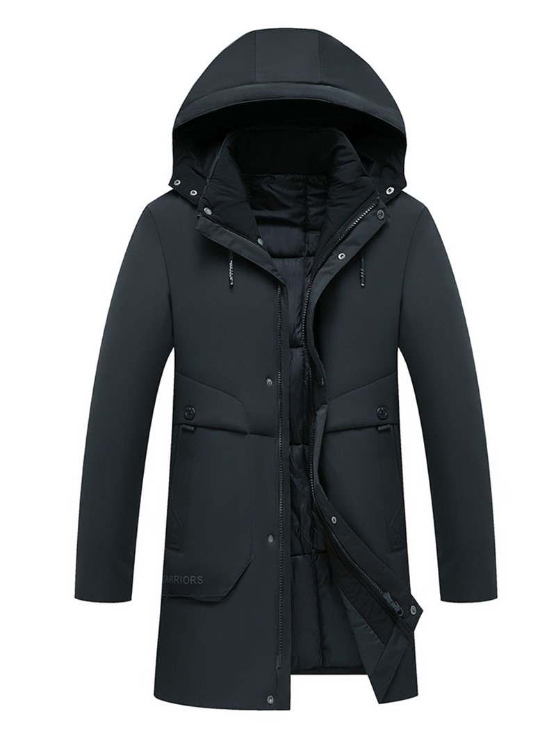 Ericdress Mid-Length Hooded Casual Mens Down Jacket