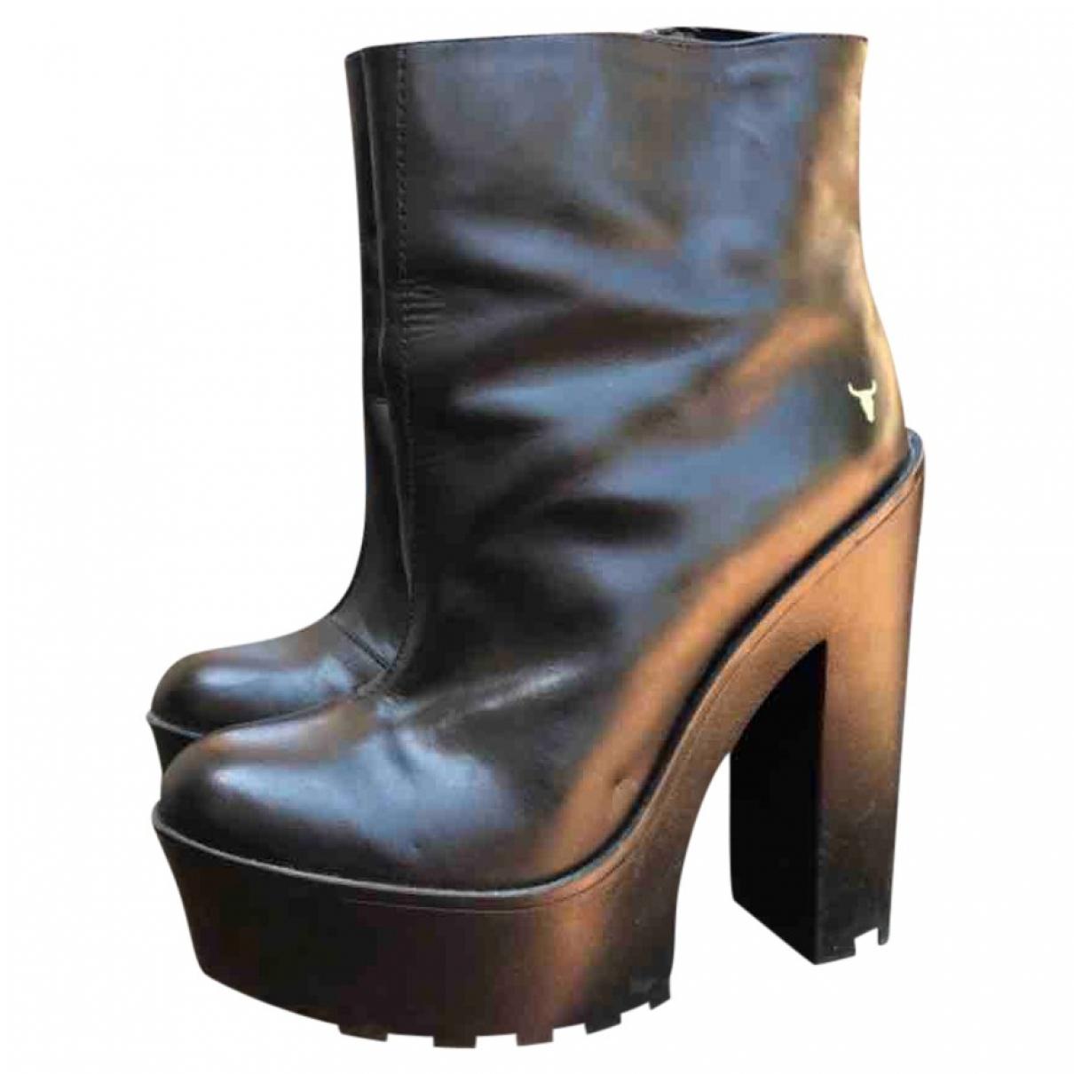 Windsor Smith \N Pumps in  Schwarz Leder