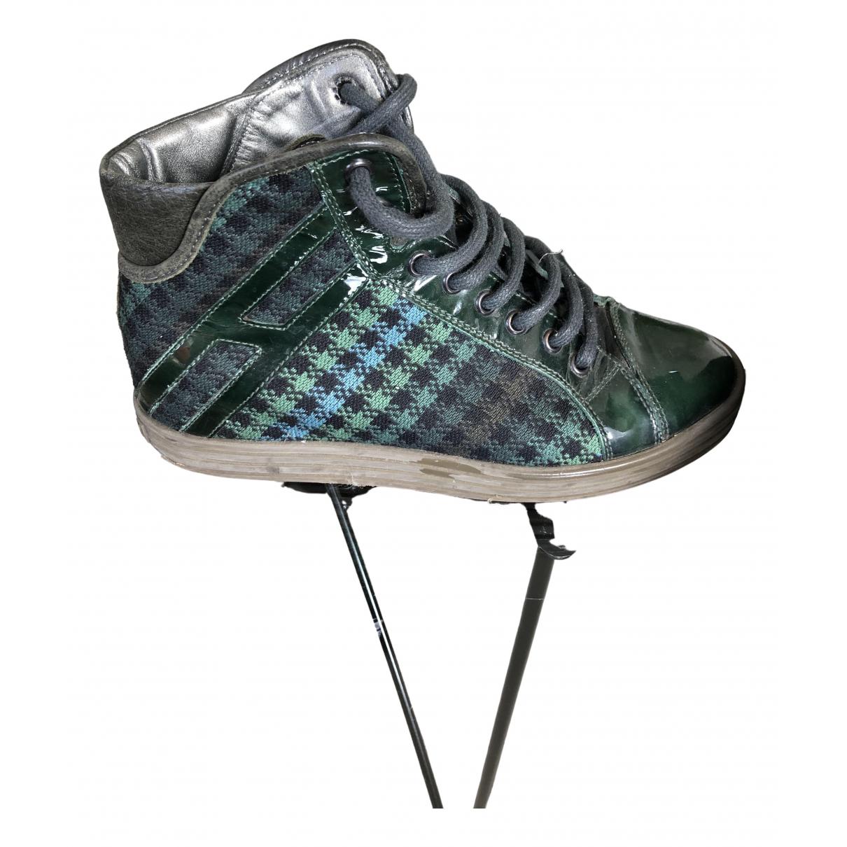 Hogan \N Sneakers in  Khaki Lackleder