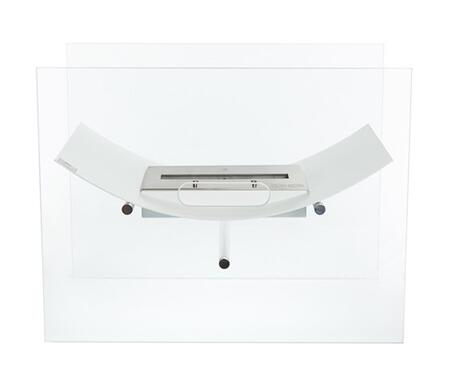 Veniz Collection BB-VW-G Freestanding Ethanol Fireplace  2 Tempered Glass Panels and 1 Linear Burner in