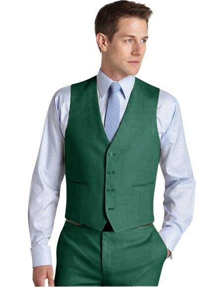 Mens Suit Vest Augusta Green