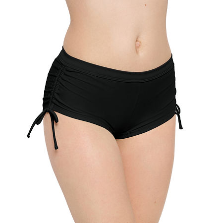 Arizona Boyshort Bikini Swimsuit Bottom Juniors, X-large , Black