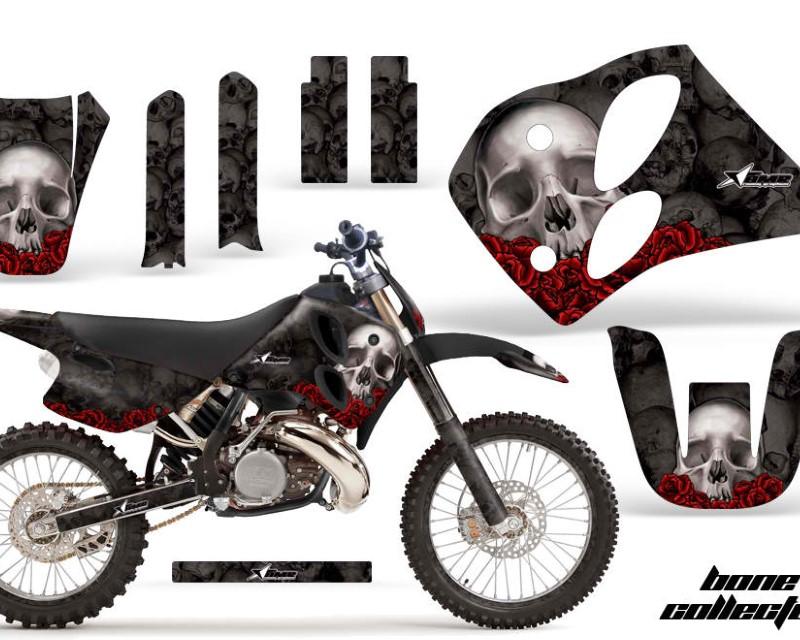 AMR Racing Graphics MX-NPKTM-C6-93-97-BC K Kit Decal Sticker Wrap + # Plates For KTM SX/XC/EXC/LC2 1993-1997áBONES BLACK