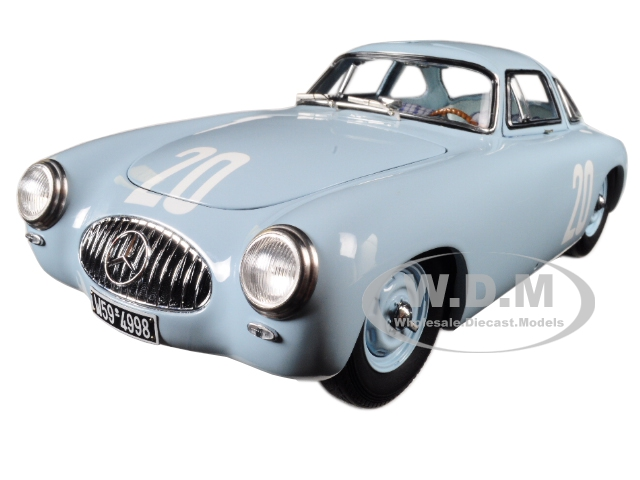 Mercedes 300 SL 20 Blue Grand Prix of Bern 1952 Limited to 1500 pieces Worldwide 1/18 Diecast Model Car by CMC