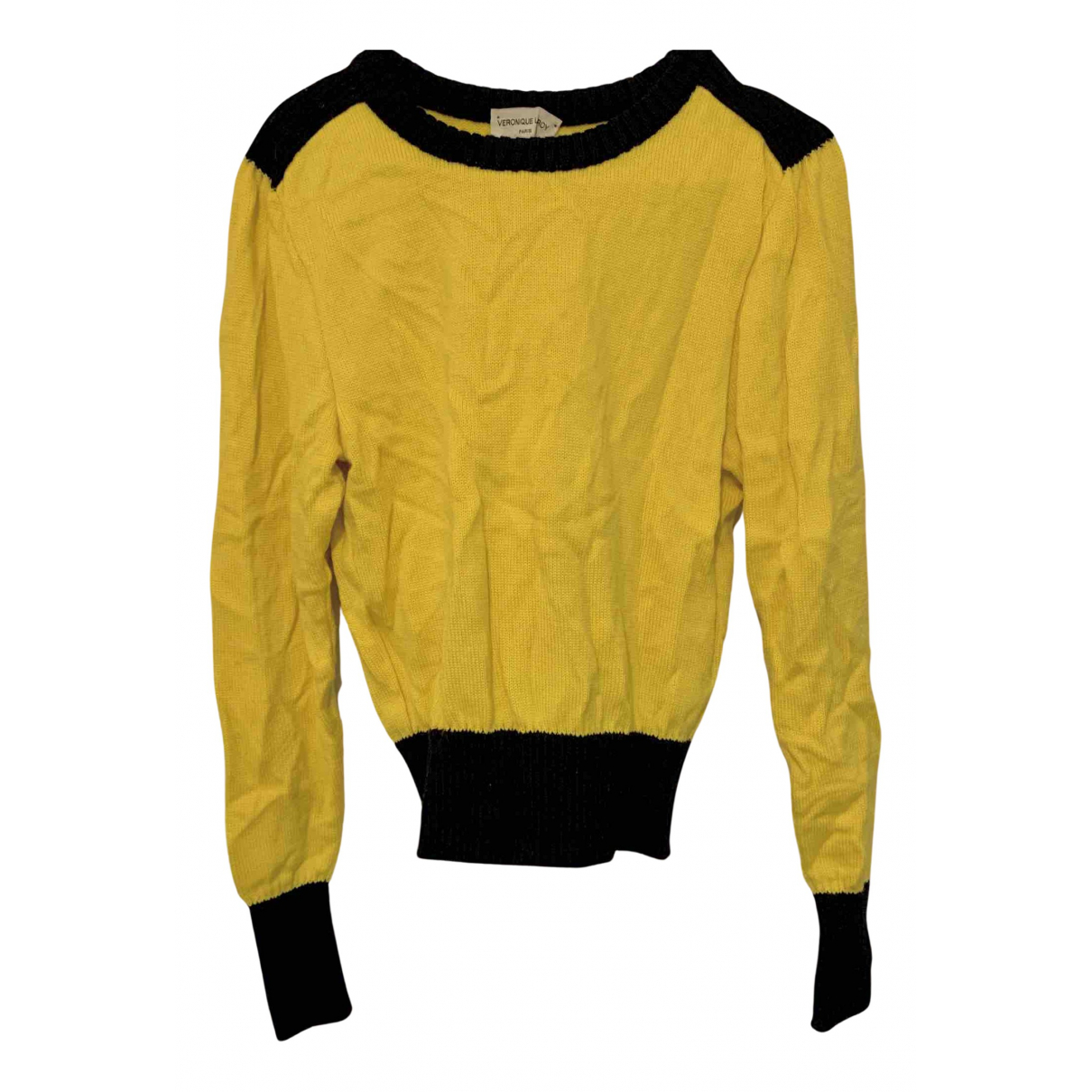 Veronique Leroy - Pull   pour femme en laine - jaune
