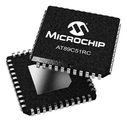 Microchip AT89C51RC-24JU, 8bit 80C51 Microcontroller, AT89, 24MHz, 32 kB Flash, 44-Pin PLCC (2)
