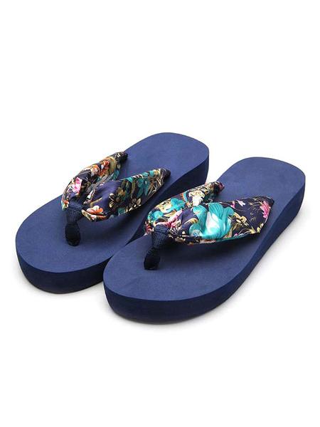 Milanoo Sandalias Zapatillas Sandalias Crudas Estampadas Sandalias Blancas Zapatos Mujer