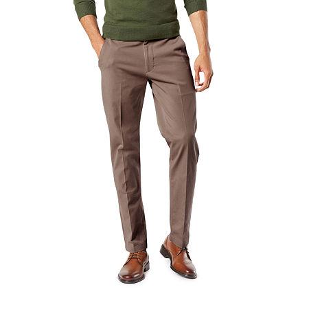Dockers Men's Slim Fit Workday Khaki Smart 360 Flex Pants D1, 33 29, Brown