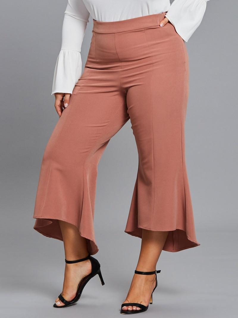 Ericdress Croppde Slim Wide Leg Women's Pants
