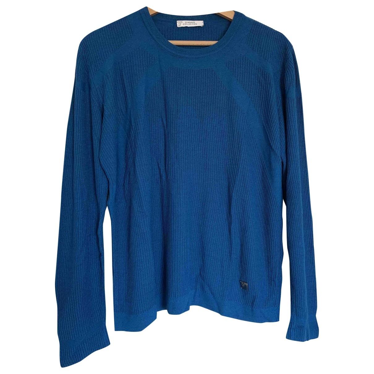 Versace - Pulls.Gilets.Sweats   pour homme en autre - bleu