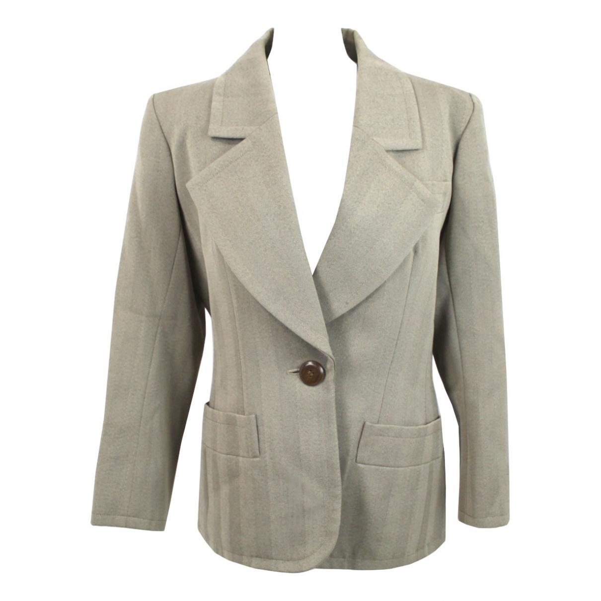 Yves Saint Laurent N Beige Wool jacket for Women 40 FR
