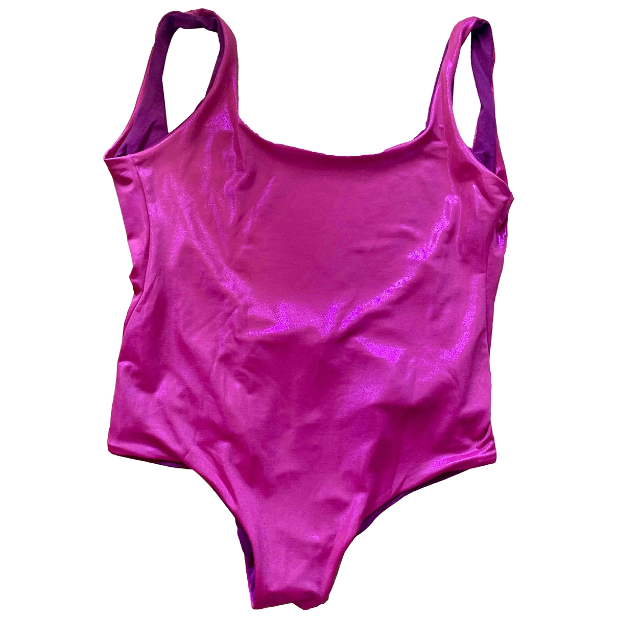 Non Signe / Unsigned \N Badeanzug in  Rosa Lycra