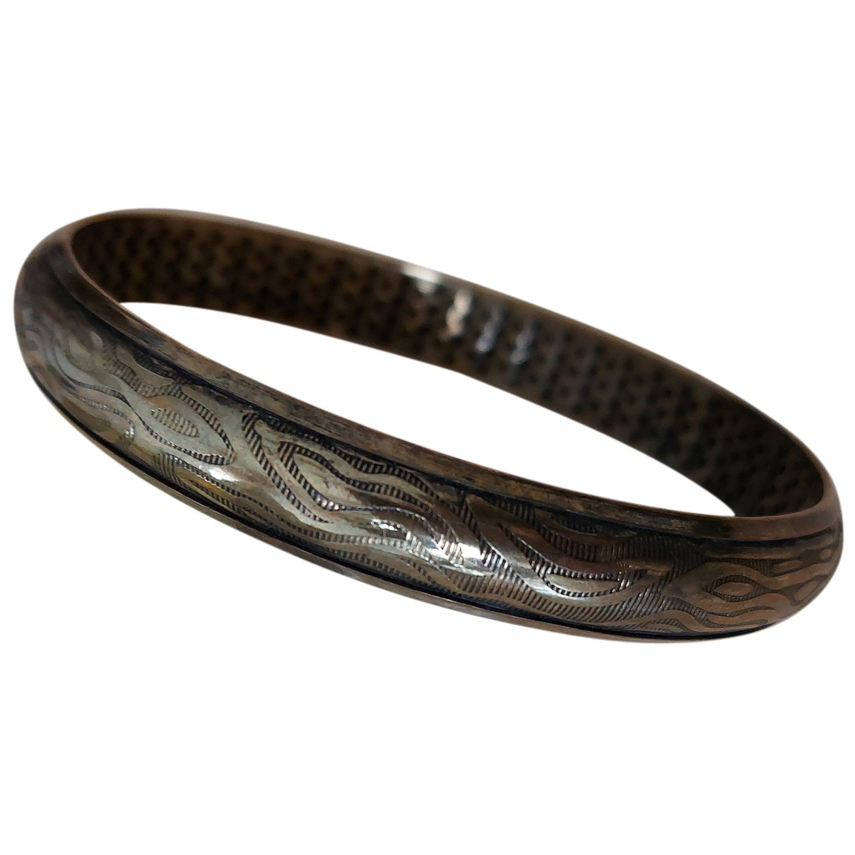 Non Signe / Unsigned Motifs Ethniques Armband in Metall