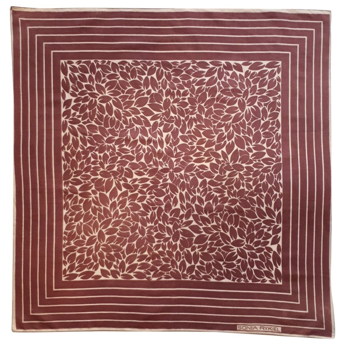 Sonia Rykiel \N Red Cotton scarf for Women \N