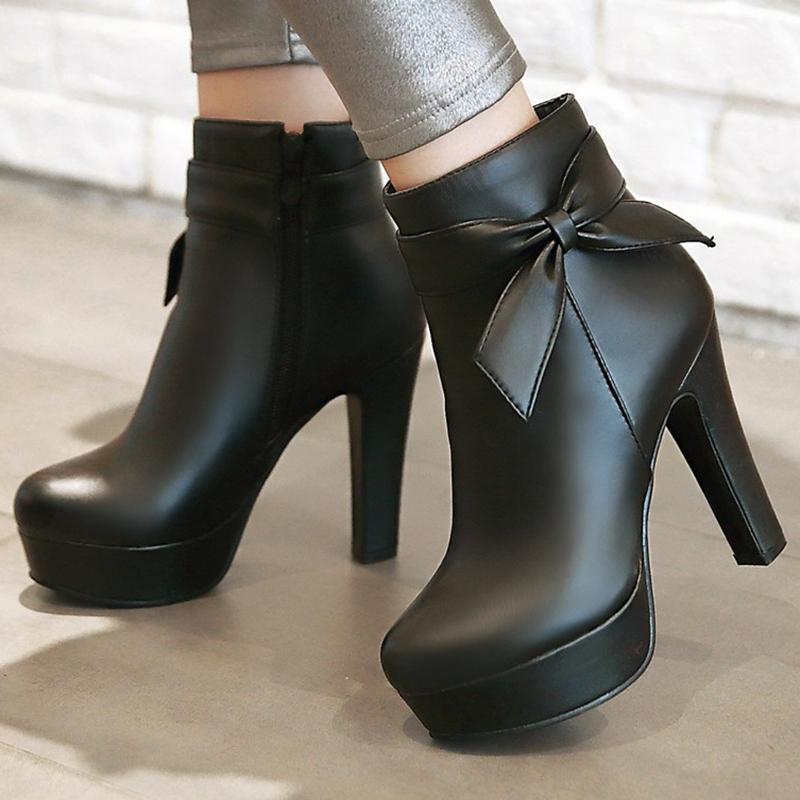 Ericdress Charming Bowtie Platform Knight Boots