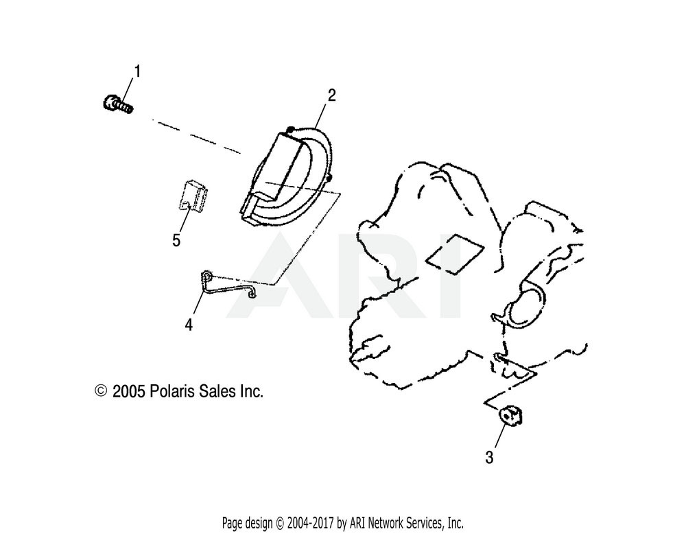Polaris OEM 0451720 Retainer, Oil Pump Cover