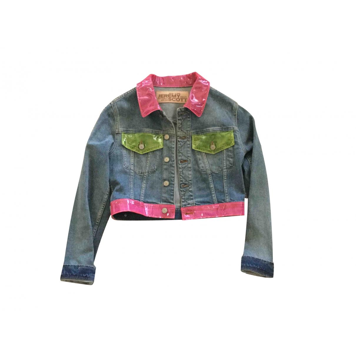 Jeremy Scott \N Blue Cotton jacket for Women 40 IT