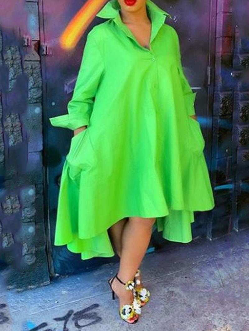 Ericdress Regular Plain Lapel Long Sleeve Women's Blouse