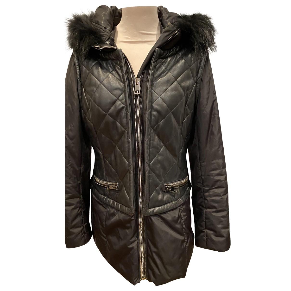 Rizal - Veste   pour femme en cuir - noir