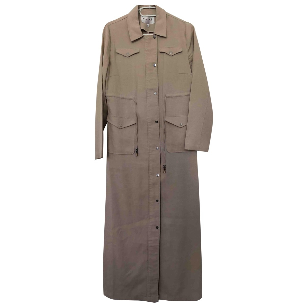 Non Signé / Unsigned \N Beige Cotton Trench coat for Women 40 FR
