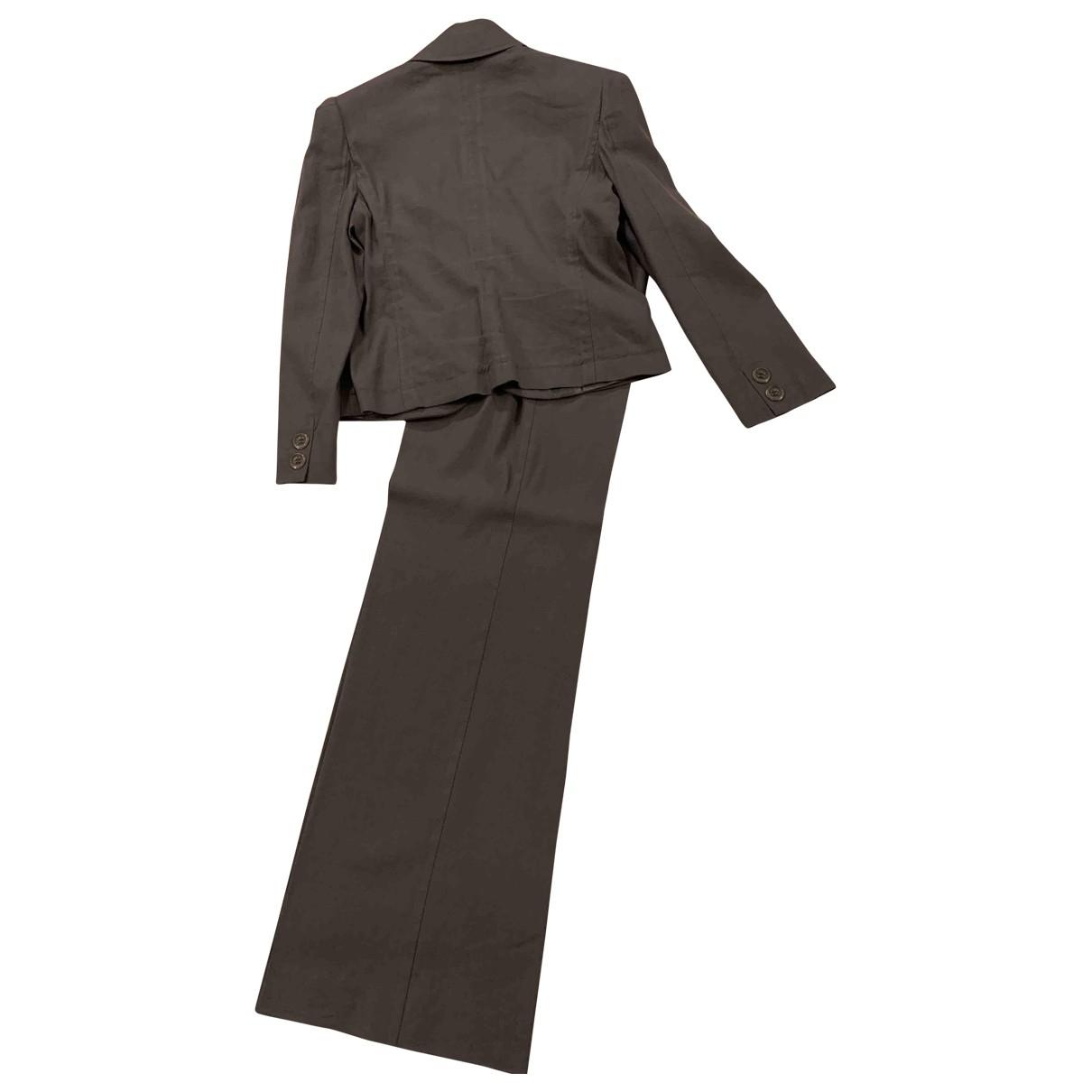 Emporio Armani \N Grey Cotton jacket for Women 44 IT