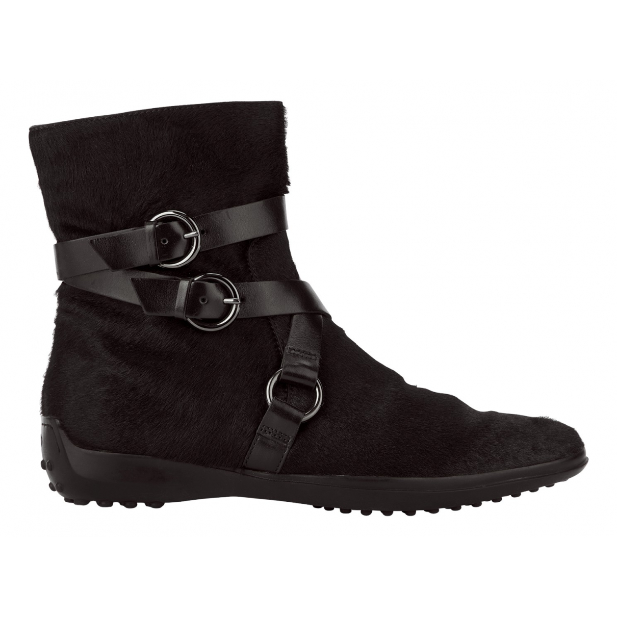 Tod's N Black Leather Ankle boots for Women 4 UK