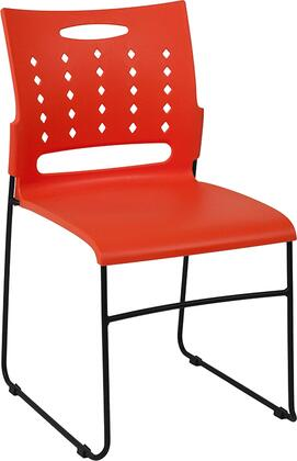 Hercules Collection RUT-2-OR-GG Multipurpose Stack Chair with Air-Vent Back  Black Powder Coated Sled Base Frame  Ergonomically Contoured Design