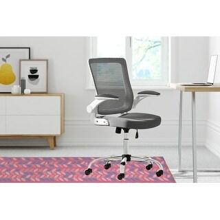 BOHO PETALS Office Mat By Kavka Designs (Pink, Blue)