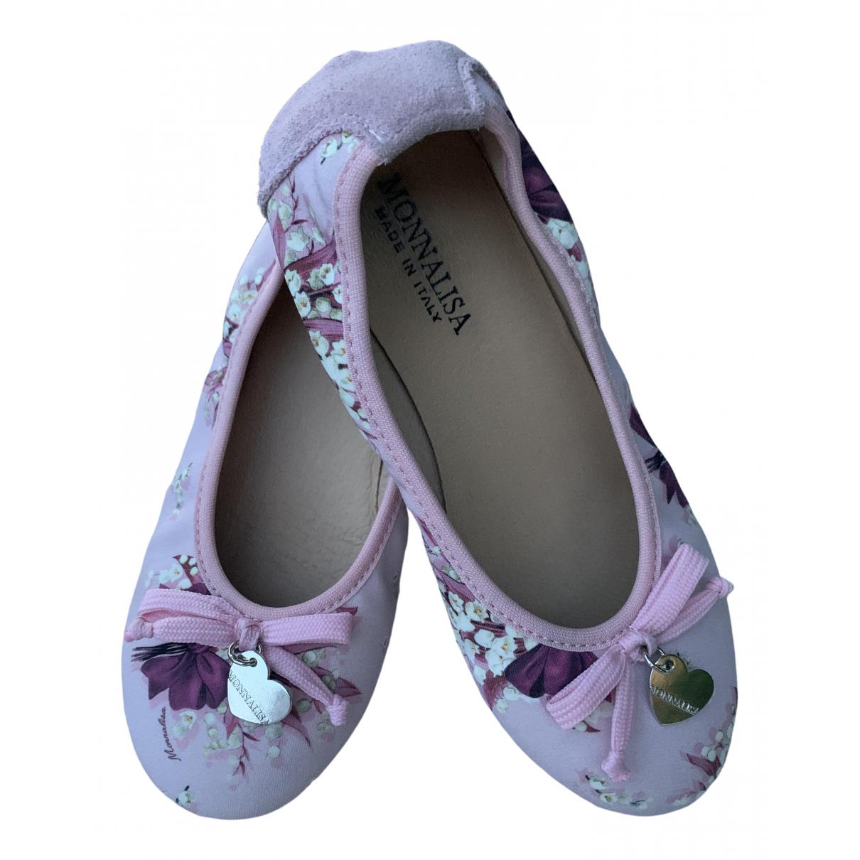 Monnalisa \N Pink Velvet Ballet flats for Kids 29 FR