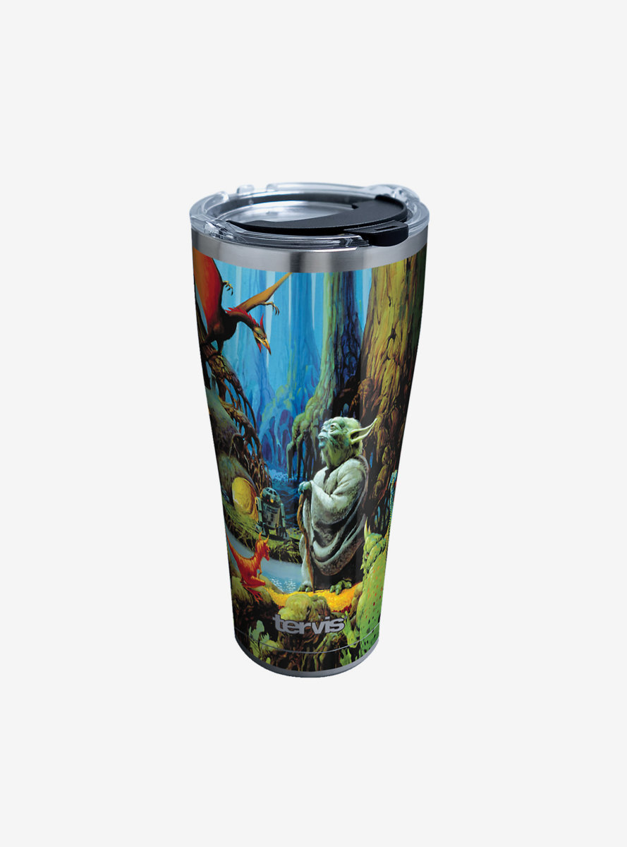 Star Wars Empire 40th Yoda 30oz Stainless Steel Tumbler With Lid