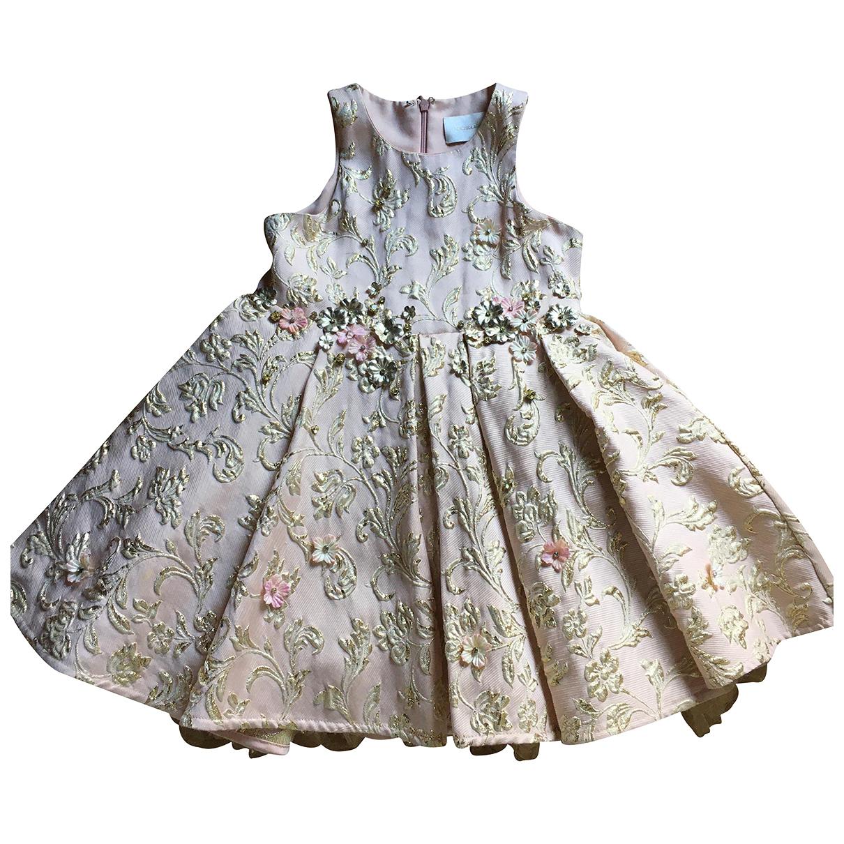 Mischka Aoki \N Kleid in  Rosa Seide