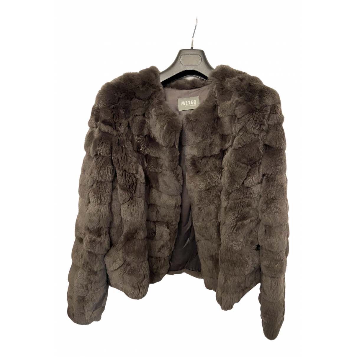 Meteo - Manteau   pour femme en lapin - marron