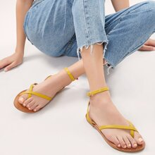 Buckled Ankle Toe Ring Gladiator Sandals