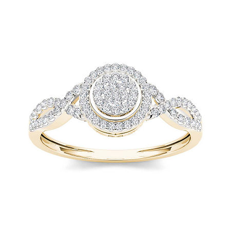 1/3 CT. T.W. Diamond 10K Yellow Gold Engagement Ring, 6 1/2 , No Color Family