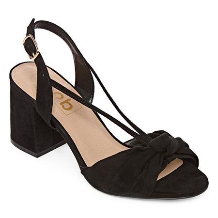 Pop Womens Celestra Heeled Sandals, 9 Medium, Black