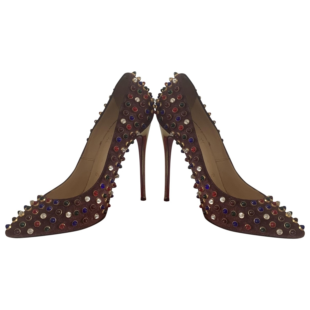 Christian Louboutin Pigalle Multicolour Velvet Heels for Women 36 EU