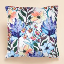 Flower Print Cushion Cover Without Filler