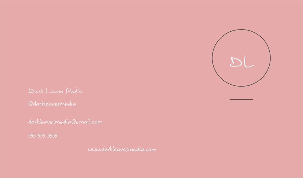 Arts & Media Business Cards, Set of 40, Silk, Card & Stationery -Dark Leaves