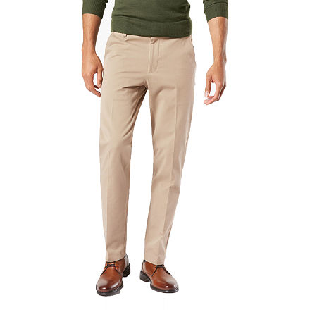 Dockers Men's Slim Fit Workday Khaki Smart 360 Flex Pants D1, 38 30, Brown