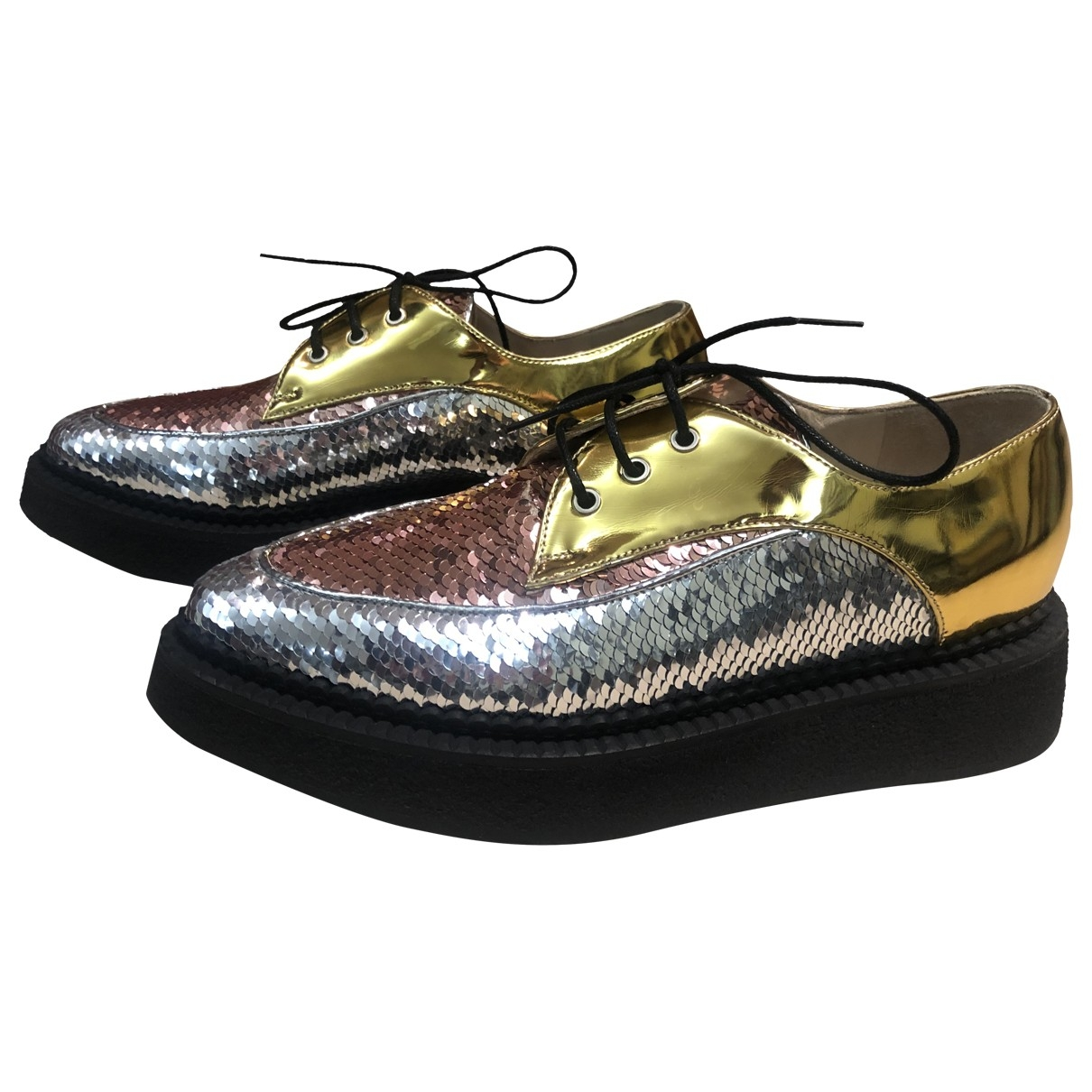 N°21 \N Metallic Patent leather Lace ups for Women 35 EU