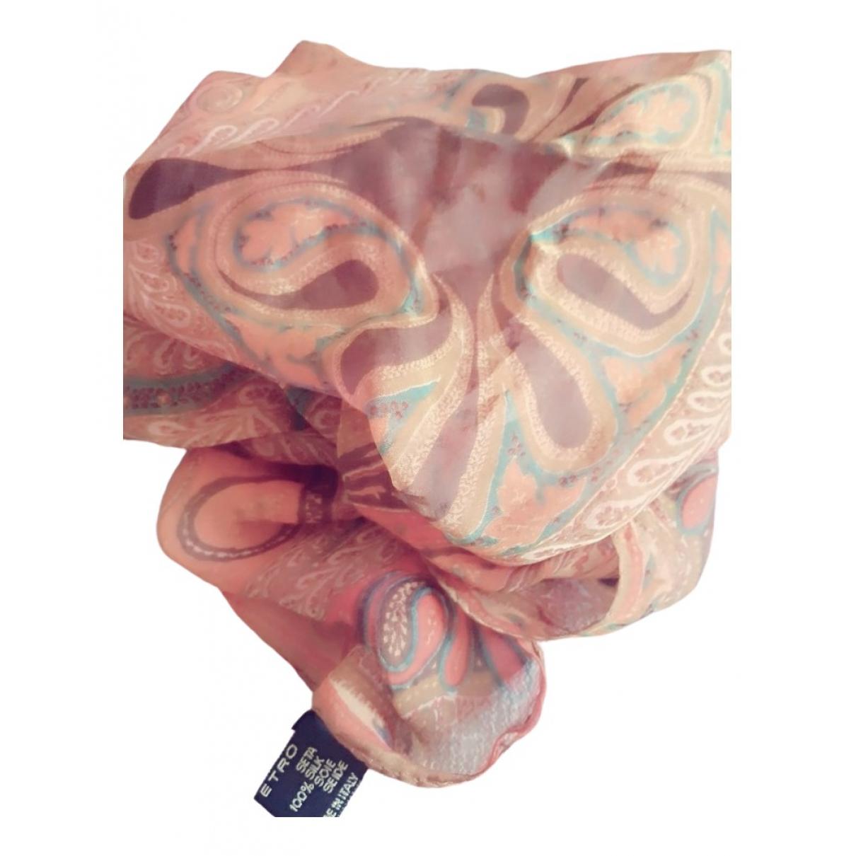 Etro \N Schal in  Rosa Seide