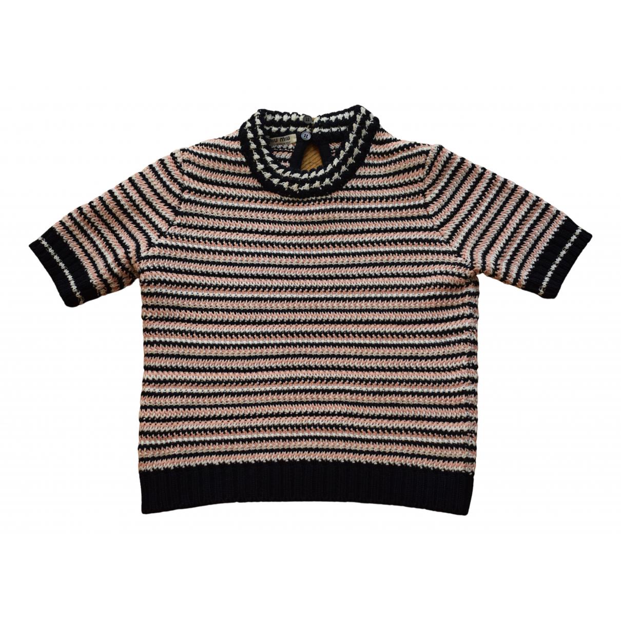 Miu Miu N Blue Cotton Knitwear for Women 36 FR