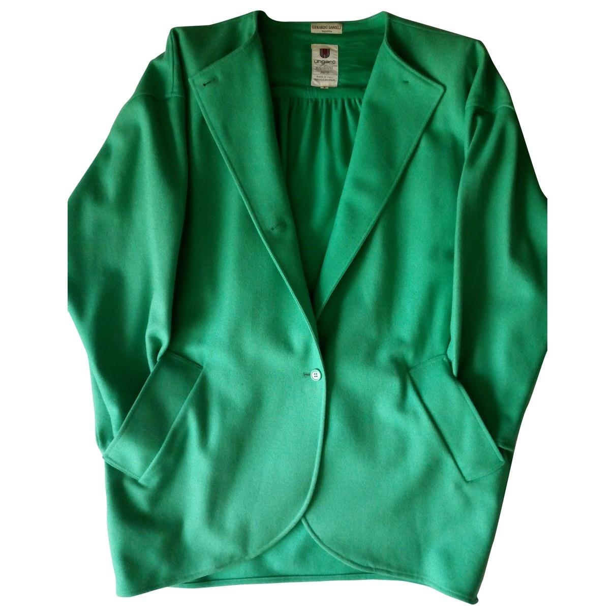 Emanuel Ungaro - Manteau   pour femme en laine - vert