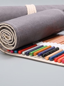 1pc Canvas Roll Pencil Case