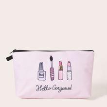 Cosmetics Pattern Makeup Bag