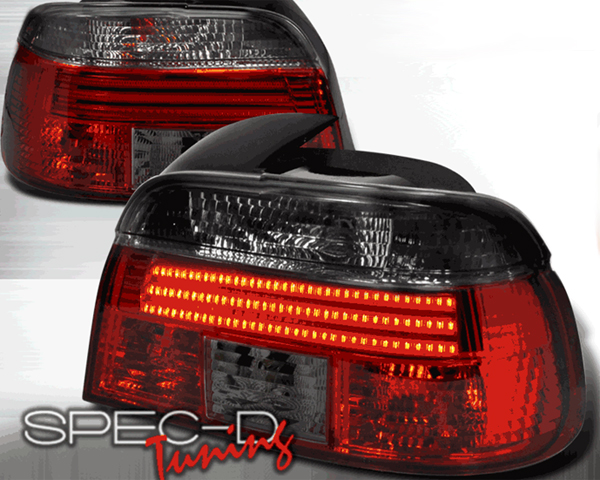 SpecD Red/Smoked LED Tail Lights BMW 5-Series E39 96-00