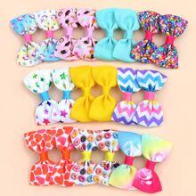 20pcs Toddler Girls Star Pattern Bow Hair Clip